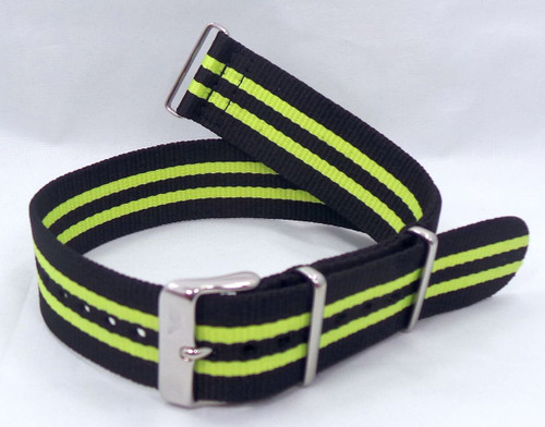 Vostok Europe N1 Rocket Radio Room NATO Ballistic Nylon Strap 22mm Black/Yellow-N1RR.22.N.S.Bk.Y