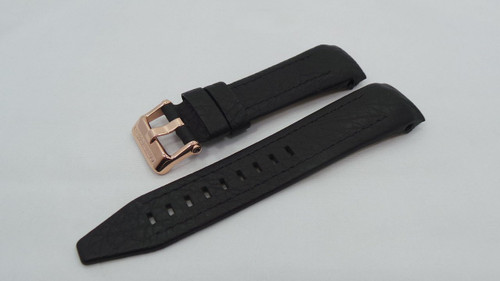 Vostok Europe Lunokhod Leather Strap 25mm Black-Lun.25.L.R.Bk