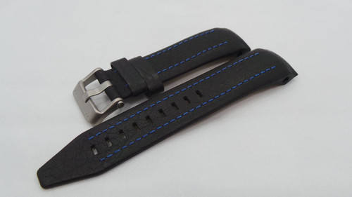 Vostok Europe Lunokhod Leather Strap 25mm Black/Blue-Lun.25.L.M.Bk.Bu