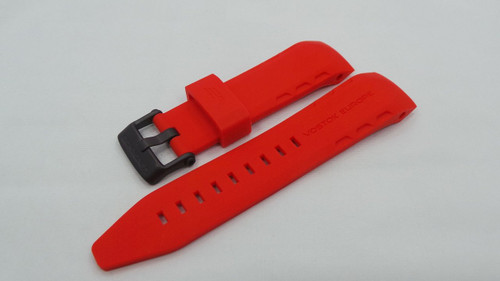 Vostok Europe Lunokhod Silicon Strap 25mm Red-Lun.25.S.B.R
