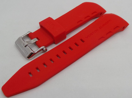 Vostok Europe Lunokhod Silicon Strap 25mm Red-Lun.25.S.S.R