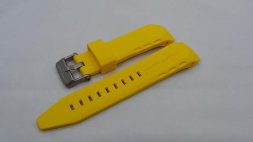 Vostok Europe Lunokhod Silicon Strap 25mm Yellow-Lun.25.S.M.Y