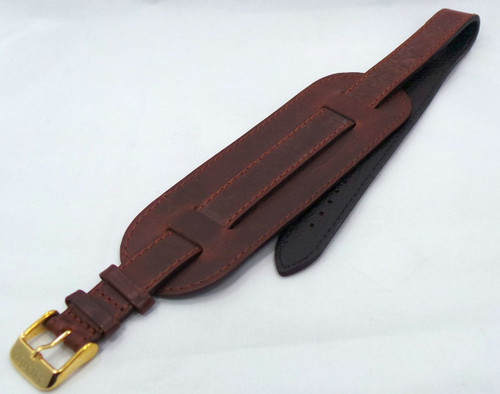 Aviator Leather Strap 16mm Brown-Avi.16.L.R.Br