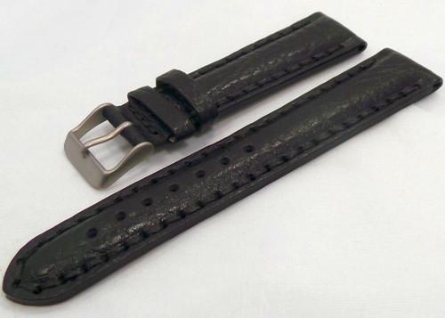 Aviator Leather Strap 20mm Black-Avi.20.L.M.Bk
