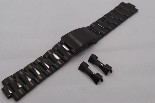 Aviator Bracelet 22mm Black PVD-Avi.22.B.B