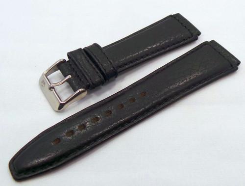 Poljot Leather Strap 18mm Black-Pol.18.L.S.Bk