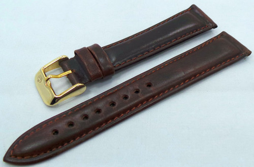 Poljot Leather Strap 18mm Dark Brown-Pol.18.L.R.Db