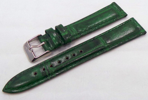 Poljot Leather Strap 18mm Green-Pol.18.L.S.G