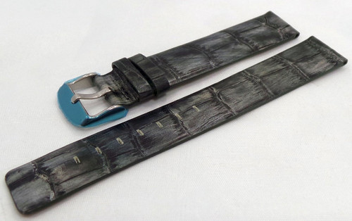 Poljot Leather Strap 18mm Grey-Pol.18.L.S.Gr