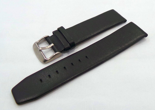 Poljot Leather Strap 20mm Black-Pol.20.L.M.Bk