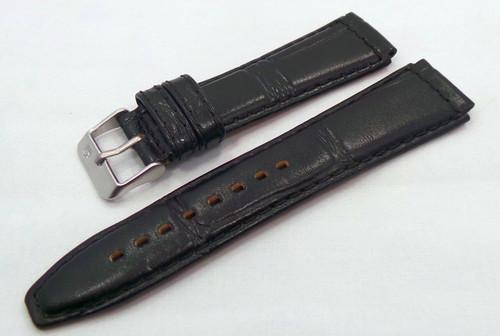 Poljot Leather Strap 20mm Black-Pol.20.L.M.Bk.Cr
