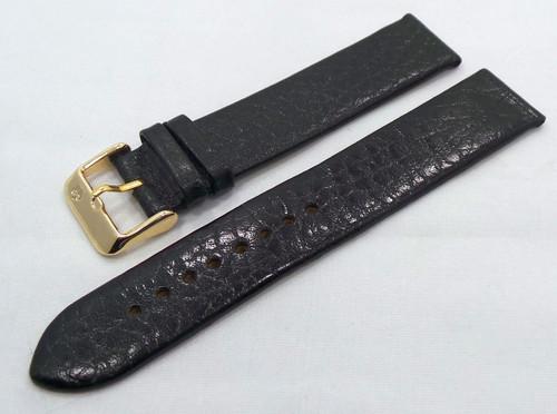 Poljot Leather Strap 20mm Black-Pol.20.L.R.Bk