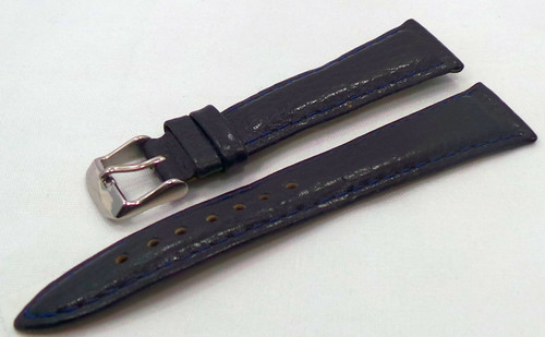 Poljot Leather Strap 20mm Blue-Pol.20.L.S.Bu.002