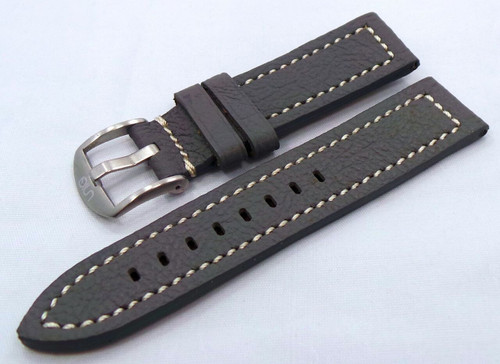 Uniq Leather Strap 22mm Grey/White-Unq.22.L.M.Gy.W
