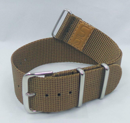 Uniq NATO Ballistic Nylon Strap 22mm Light Brown-Unq.22.N.S.Lb