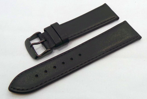 Sturmanskie Leather Strap 22mm Black-Str.22.L.B.Bk