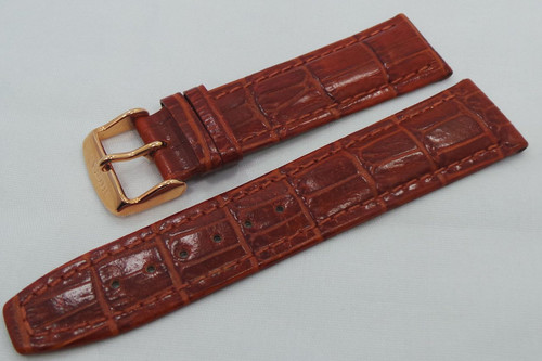 Buran Leather Strap 20mm Brown-Bur.20.L.R.Br