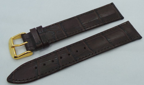Buran Leather Strap 20mm Dark Brown-Bur.20.L.R.Db