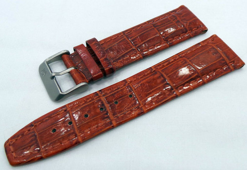Buran Leather Strap 22mm Brown-Bur.22.L.M.Br
