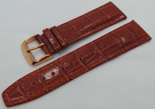 Buran Leather Strap 22mm Brown-Bur.22.L.R.Br