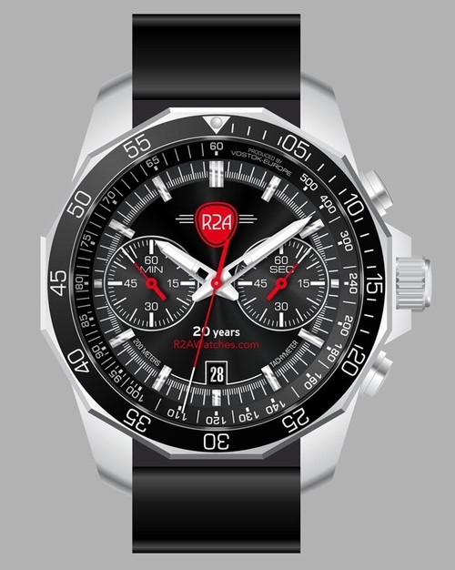 R2AWatches 20th Anniversary N1 Rocket Chrono Edition -- 6S21-2255376-Q