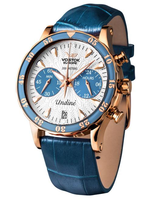 Vostok-Europe Undine Blue Ladies Chronograph Watch VK64/515B527