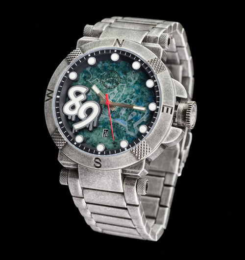 The Fall Of The Berlin Wall Watch - 48mm Etched Dial - Bracelet