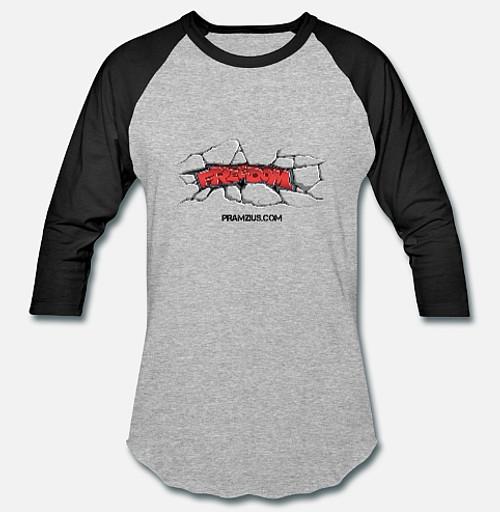 Pramzius Freedom or Liberty Baseball Shirt