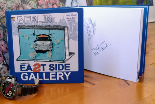 Photo Book of the East Side Gallery hand signed by Kani Alavi Executive Director