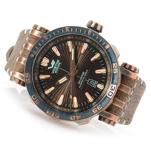 Vostok-Europe Men's 49mm Energia Automatic Watch NH35A/575O285P Sample