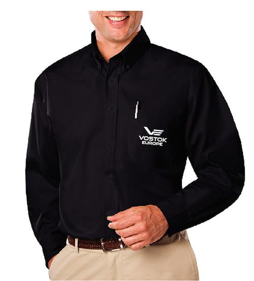 Vostok-Europe Premium Black Button Down Shirt Large