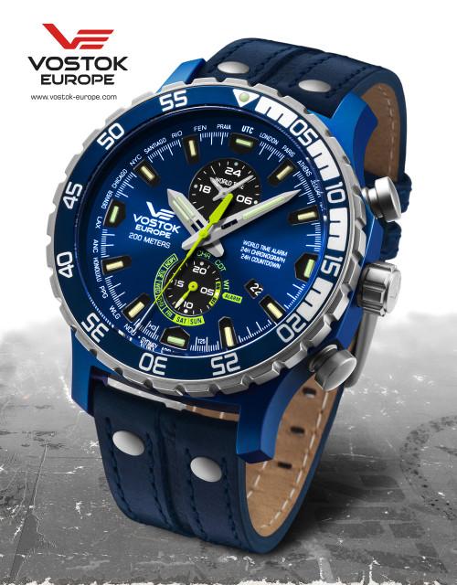 Vostok-Europe Expedition Everest Underground Quartz Alarm Watch YM8J/597E546