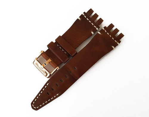 Vostok Europe Energia-2 Leather Strap 26mm Brown with White Stitching