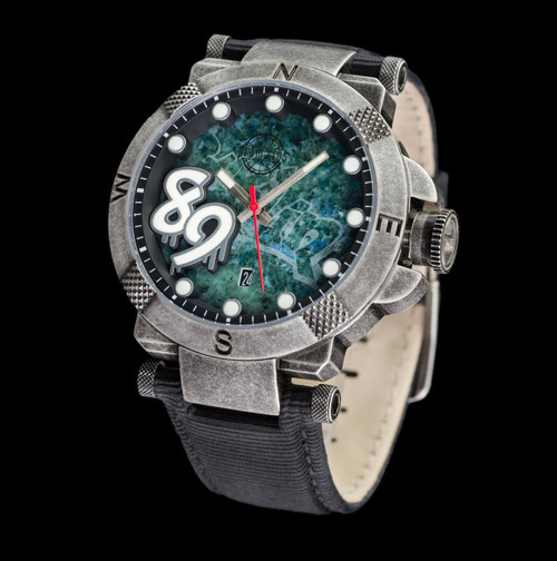 The Fall Of The Berlin Wall Watch - 42mm Etched Dial - Leather