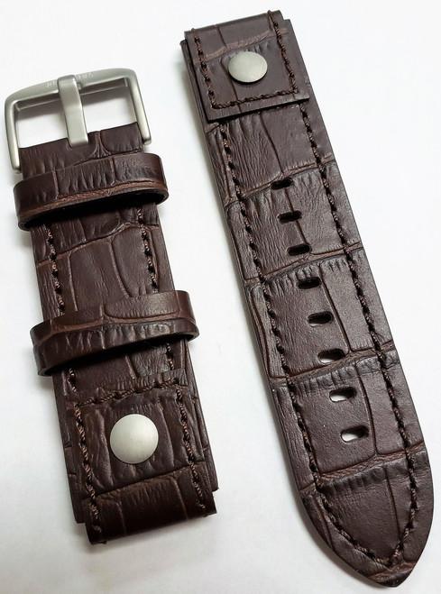 Trans-Siberian Oxblood Leather Strap