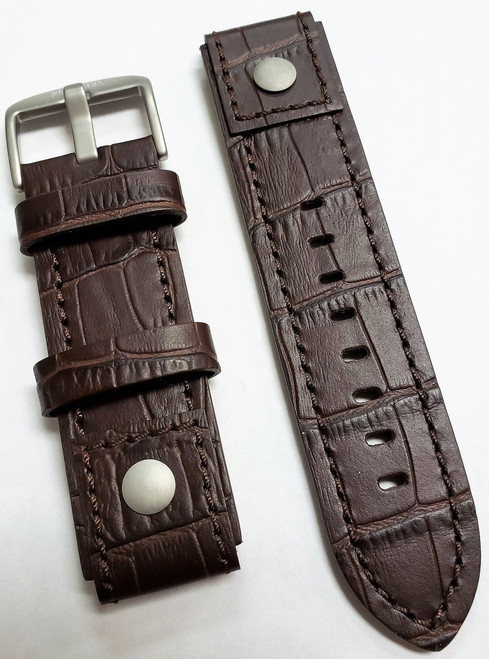 Trans-Siberian Oxblood Leather Strap