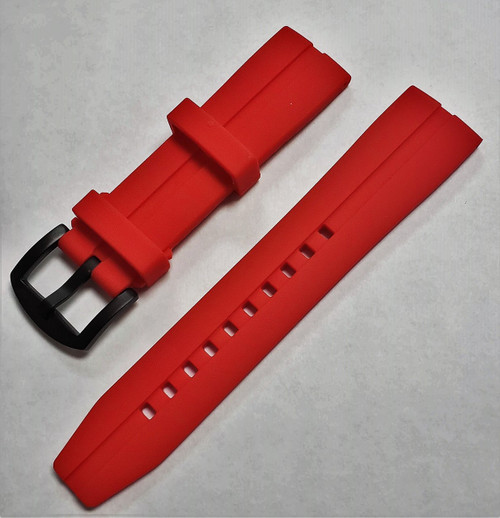 Vostok Europe Almaz Silicon Strap 22mm Red ALM.22.S.B.R