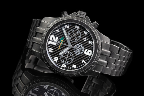 Iron Wolf Carbon Fiber Military Chronograph Watch P715303