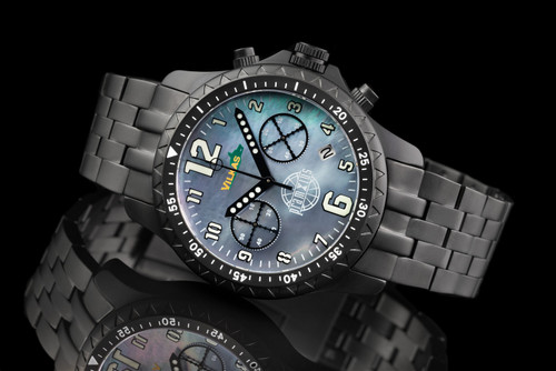 Iron Wolf Full Mother of Pearl Military Chronograph Watch P714305