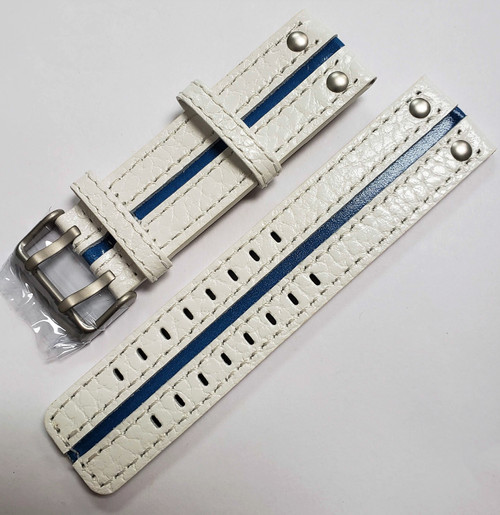 Vostok Europe Expedition North Pole Leather Strap 24mm White / Blue