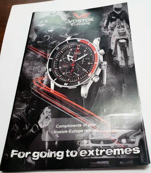 Vostok-Europe USA 2013 4 page sales booklet for resellers