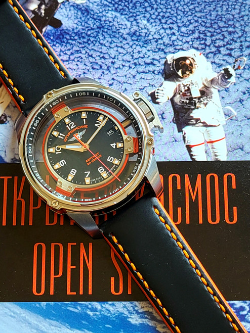 Sturmanskie Mars Orange Automatic Watch NH35/9035975 Kit with Leather and Silicon Straps and Ace Pen