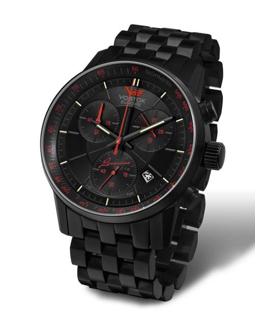 Vostok-Europe Gaz-Limo Quartz Chronograph on Bracelet 6S30/5654176B