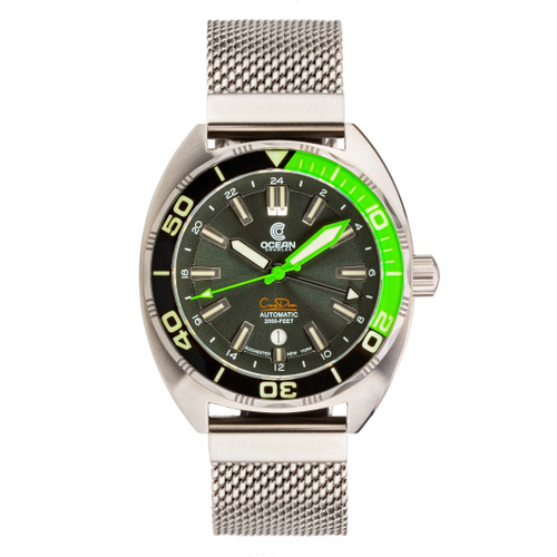 Ocean Crawler Core Diver GMT - Black/Green