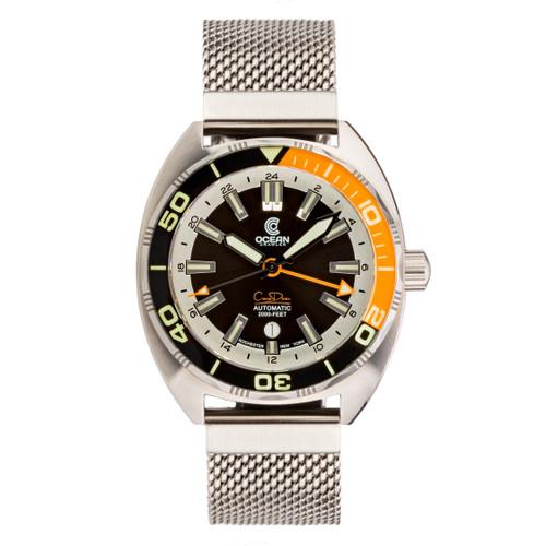 Ocean Crawler Core Diver GMT - Black/Orange