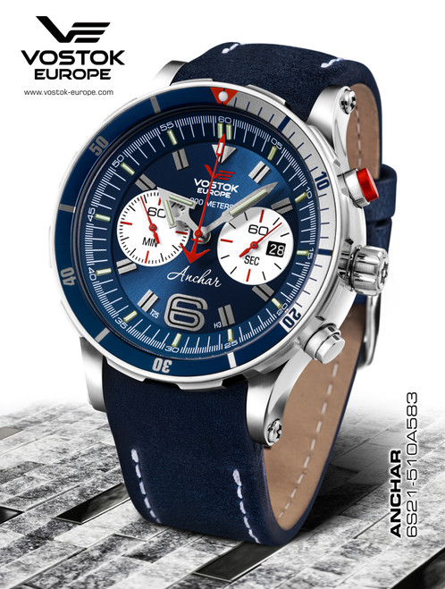Vostok-Europe Anchar Dive Chronograph Watch 6S21/510A583