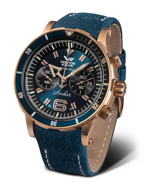 Vostok-Europe Anchar Dive Chronograph Watch 6S21/510O586 (6S21/510O586)