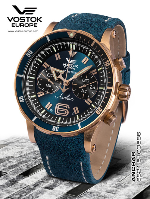 Vostok-Europe Anchar Dive Chronograph Watch 6S21/510O586