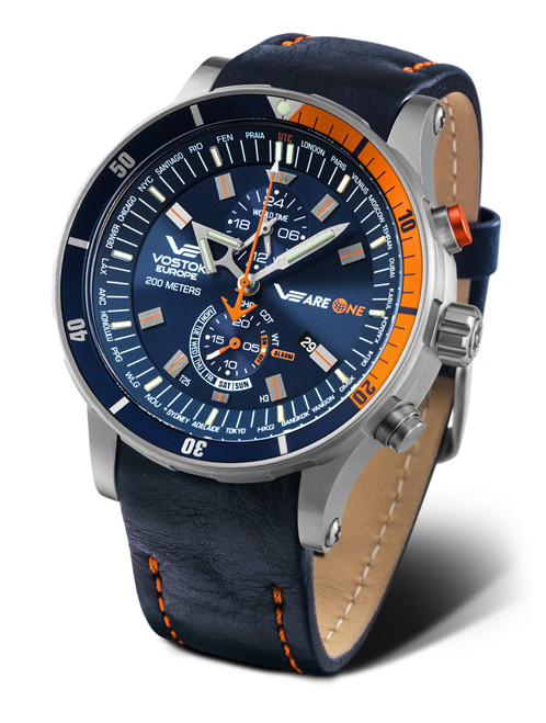 Vostok-Europe VEareONE Titanium Anchar Tritium Tube Multi-Function Watch