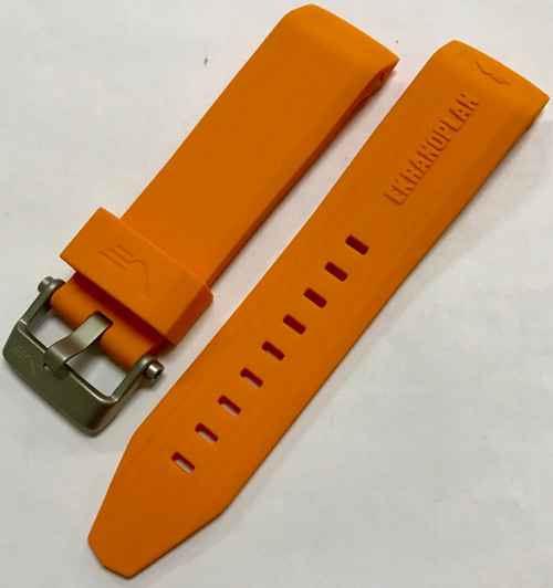Vostok Europe Sea-Monster Silicon Strap 25mm Orange With Matte Buckle